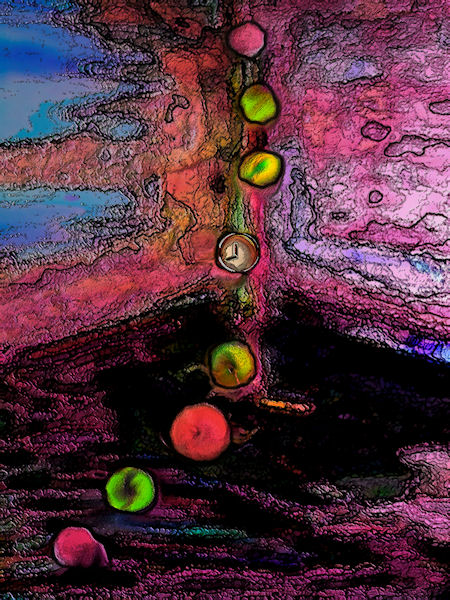 abstract image with fruit representing fruits of knowledge