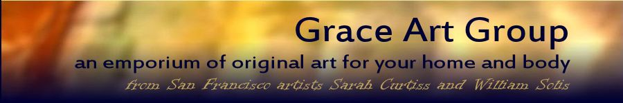 Banner for Grace Art, San Francisco, original art cards and books