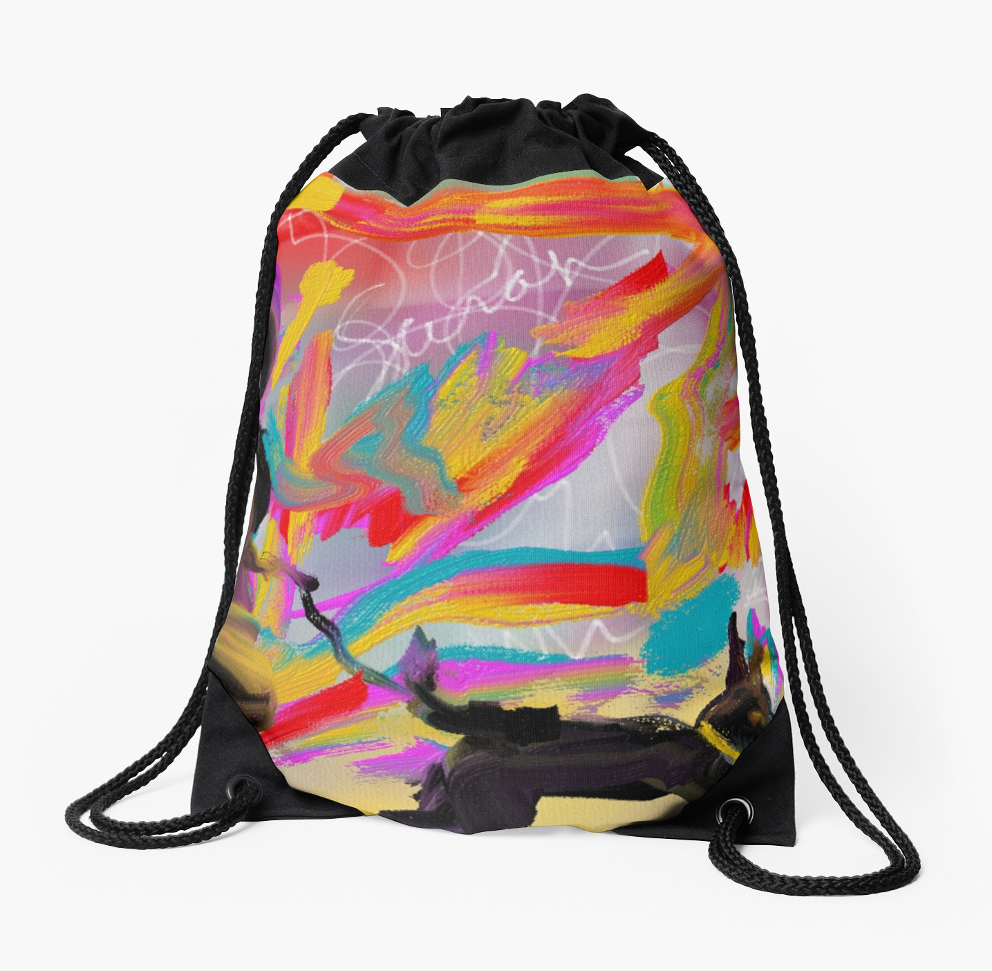Walking the Dog drawstring bag