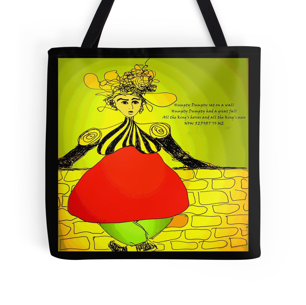 Humpty Dumpty Tote Bag by Sarah Curtiss