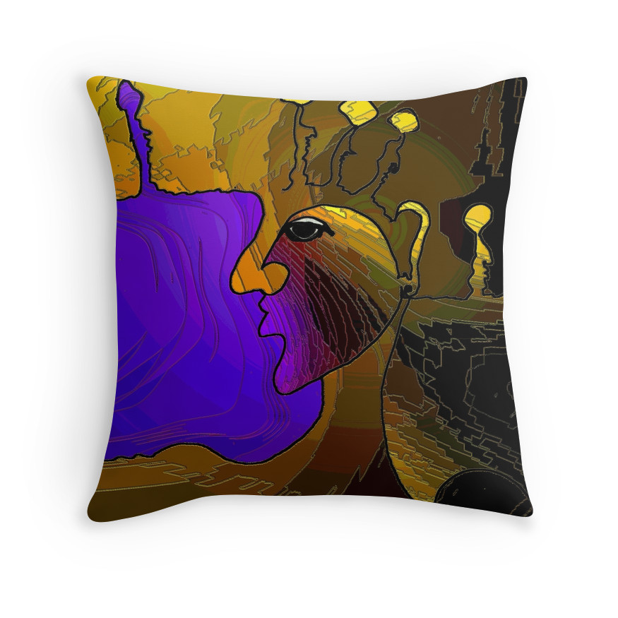 Purple Egyptian Pillow